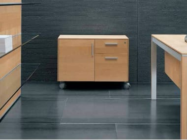 Office drawer unit with castors ZEFIRO EXE | Office drawer unit