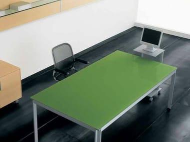 Lacquered rectangular workstation desk ZEFIRO EXE | Lacquered office desk