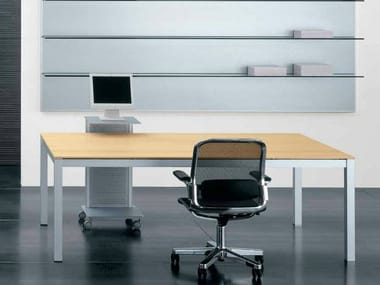 Rectangular wooden workstation desk ZEFIRO EXE | Office desk