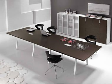 Rectangular wooden meeting table ATREO | Meeting table
