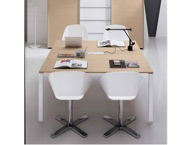 Contemporary style square wooden meeting table PEGASO | Meeting table
