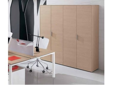 Wooden office storage unit with hinged doors PEGASO | Office storage unit with hinged doors