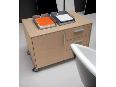 Wooden office drawer unit with castors PEGASO | Office drawer unit