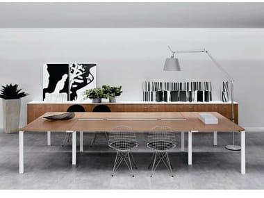Rectangular wooden meeting table VISTA | Meeting table