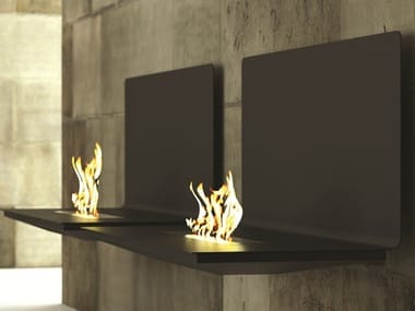 Bioethanol wall-mounted fireplace HOP