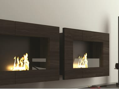 Bioethanol wall-mounted fireplace QUADRO