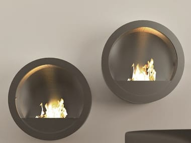 Bioethanol wall-mounted fireplace RONDO