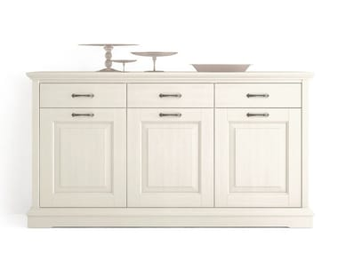 Wooden sideboard with doors with drawers ARIETTE | Sideboard with doors