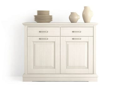 Wooden sideboard with doors with drawers ARIETTE | Sideboard with drawers