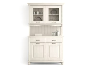 Wooden highboard with doors with drawers ARIETTE | Highboard