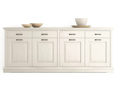 Wooden sideboard with doors with drawers ARIETTE | Sideboard