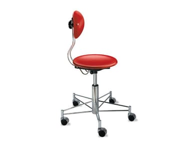 Height-adjustable office stool with 5-Spoke base with castors SBG 41 | Office stool
