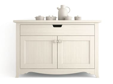 Wooden sideboard with doors with drawers TABIÀ | Sideboard