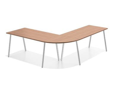 Modular wooden meeting table LACROSSE III | Modular meeting table