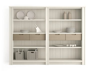 Wooden highboard with drawers MAESTRALE | Wooden highboard
