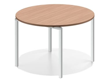 Round wooden meeting table LACROSSE V | Round table