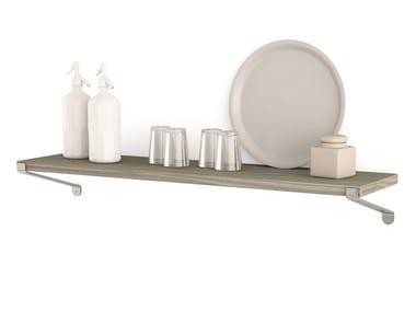 Spruce wall shelf Shelf with supports