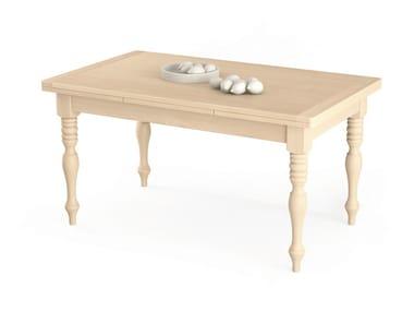 Extending rectangular wooden table TABIÀ | Extending table