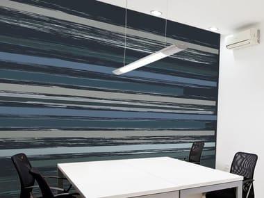 Striped vinyl wallpaper FOG