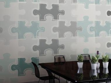 Motif vinyl wallpaper PUZZLE