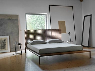 Wood double bed TWINE | Double bed