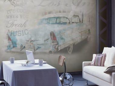 Writing vinyl wallpaper GOODBYE KISS