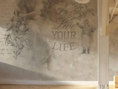 Writing vinyl wallpaper YOUR LIFE