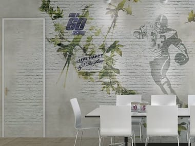 Brick effect vinyl wallpaper GLORIOUS!