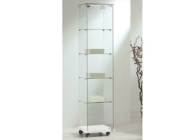 Retail display case with castors VE40180E | Retail display case