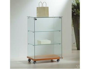Retail display case with castors VE6090 | Retail display case