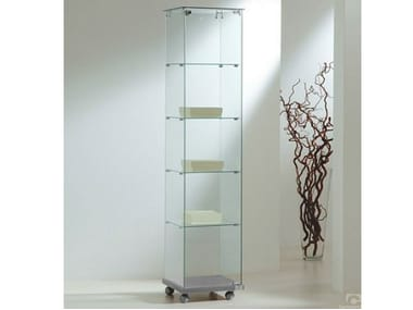 Retail display case with castors VE40180 | Retail display case