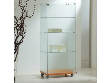 Retail display case with castors VE60140 | Retail display case