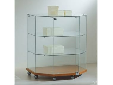 Retail display case with castors VE8090T | Retail display case