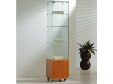 Retail display case with castors VE40180M | Retail display case