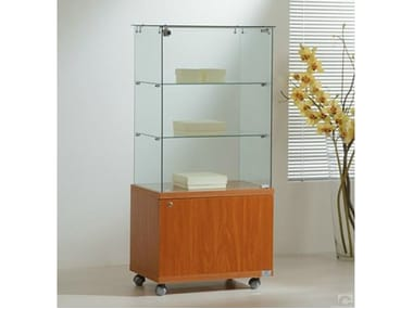 Retail display case with castors VE60130M | Retail display case