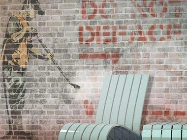 Brick effect vinyl wallpaper GUERILLART