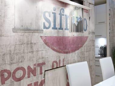 Wall effect vinyl wallpaper DYNAMO