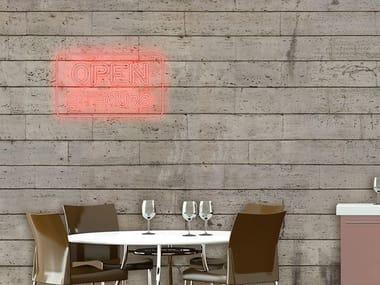Brick effect vinyl wallpaper NIGHTLIFE