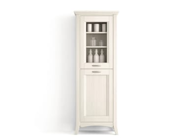 Solid wood bathroom cabinet / highboard ARCANDA | Highboard with doors