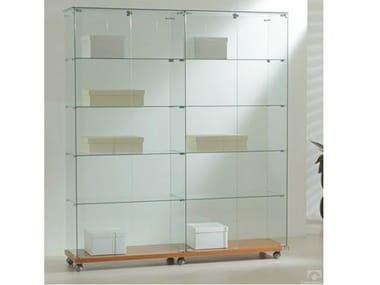Retail display case with castors VE160180 | Retail display case