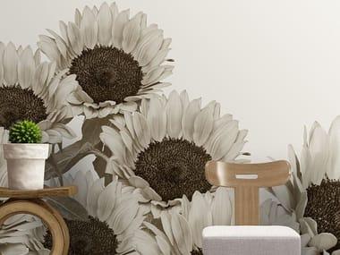 Vinyl wallpaper with floral pattern HEATWAVE