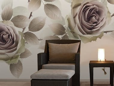 Vinyl wallpaper with floral pattern NEW ROMANTIC