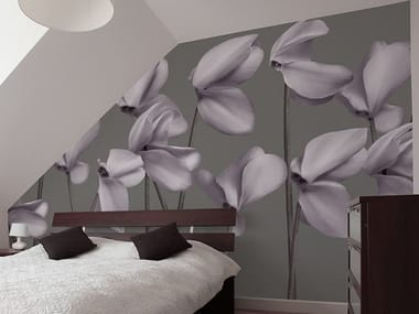 Vinyl wallpaper with floral pattern GRACE