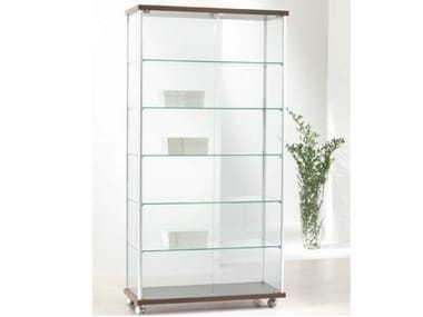 Retail display case with castors VE93/A | Retail display case