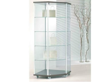 Retail display case with castors VE70/A | Retail display case