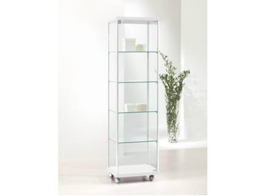 Retail display case with castors VE43/A | Retail display case