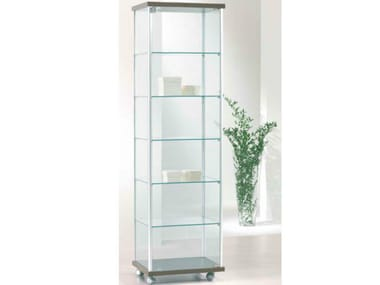 Retail display case with castors VE53/A | Retail display case