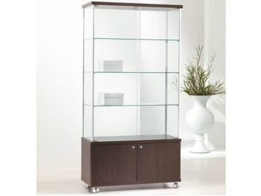 Retail display case with casters VE93/M | Retail display case
