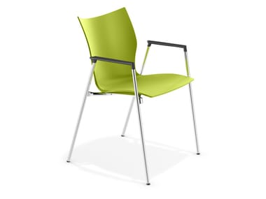 Stuhl aus Kunststoff mit Armlehnen LYNX III | Stuhl mit Armlehnen
