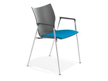 Konferenzstuhl mit Armlehnen LYNX III | Stuhl mit Armlehnen